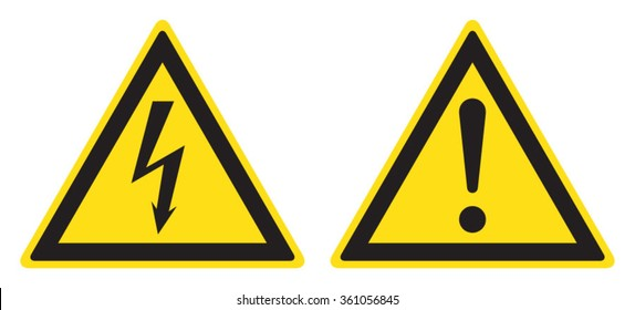 Electrical hazard sign, danger sign