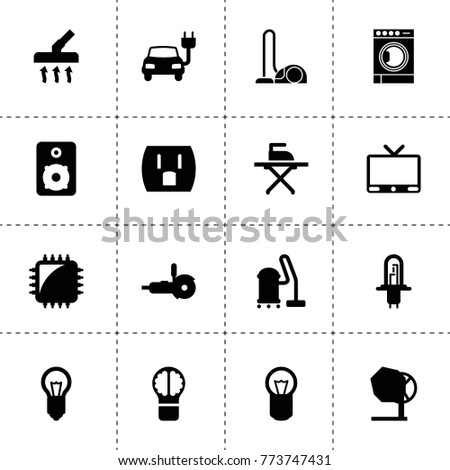 Electrical Icons Vector Collection Filled Electrical Stock Vector