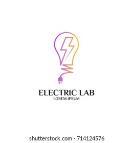 electrical logo electrical and mechanical business company. good for name card, branding, flyer, handout. vector illustration