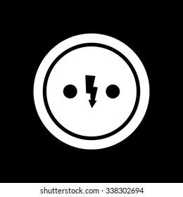 Electrical Outlet Icon Socket Symbol Flat Stock Illustration
