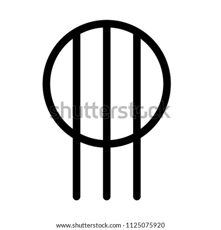 Electrical Outlet Symbol Stock Vector Royalty Free 1125075920