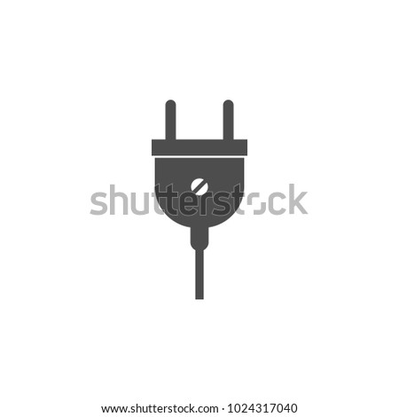 Electrical Plug Icon Elements Web Icon Stock Vector (Royalty Free