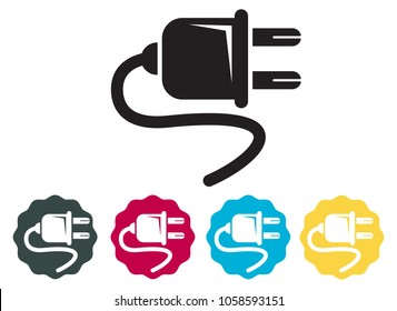 Electrical Plug Icon as EPS 10 File