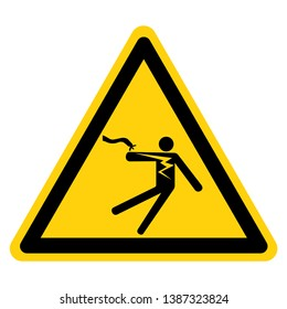 Electrical Shock Electrocution Symbol Sign, Vector Illustration, Isolate On White Background Label .EPS10