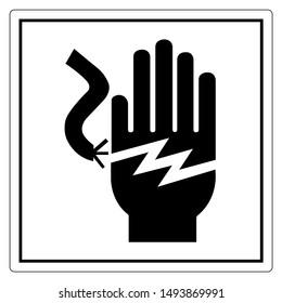 Electrical Shock Electrocution Symbol Sign, Vector Illustration, Isolate On White Background Label .EPS10