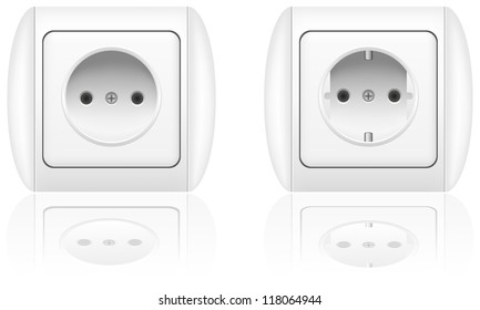 electrical socket vector illustration isolated on white background