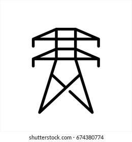 Electrical tower icon in trendy flat style isolated on background. Electrical tower icon page symbol for your web site design Electrical tower icon logo, app, UI. Electrical tower icon Vector