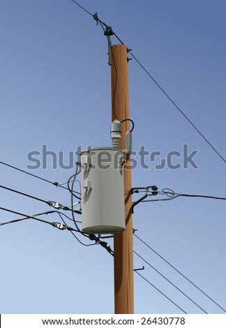 electrical utility pole transformer wires 450w 26430778 electrical utility pole transformer wires insulators stock vector
