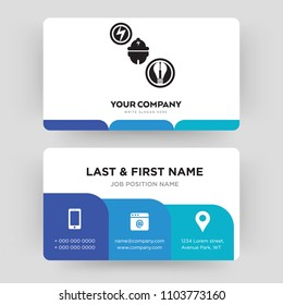 Electrician business card images stock photos vectors shutterstock electrician business card design template visiting for your company modern creative and clean flashek Choice Image