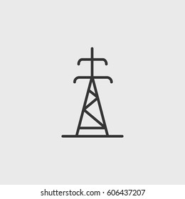 Electrician pole icon illustration isolated vector sign symbo
