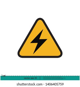 Electricity Icon. Danger electricity Sign. Vector Eps 10