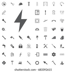 Electricity icon on the white background