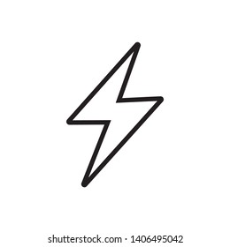 Electricity Icon, Power Symbol, Logo Template