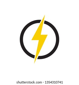 electricity, lightning icon vector