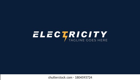 Electricity logotype, Flat style Logo Design Template,vector illustration