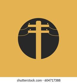 electricity pole icon vector