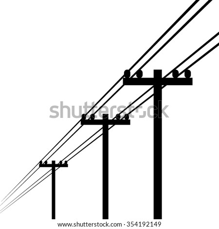 Electricity Pole Vector Stock Vector Royalty Free 354192149