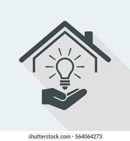 Electricity supply - Vector web icon