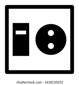 electricity switch icon isolated sign symbol vector illustration - high quality black style vector icons