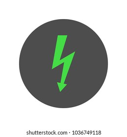 Electricity symbol. Lightning icon. Vector.