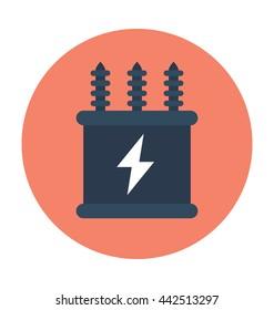 Electricity Transformer Vector Icon