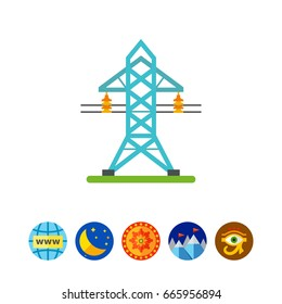 Electricity transmission tower icon