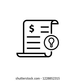 Electricity utility bill icon. Clipart image isolated on white background