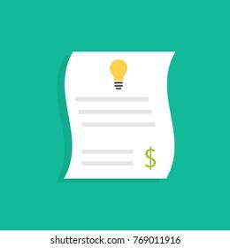 Electricity utility bills. Vector illustration