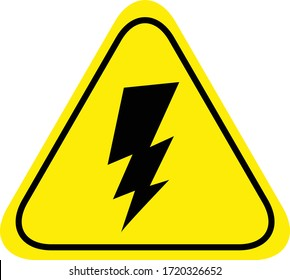 Electrified Fence Warning Signs in vector
