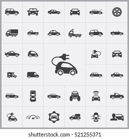 electro car icon. car icons universal set for web and mobile