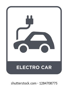 electro car icon vector on white background, electro car trendy filled icons from General collection, electro car vector illustration