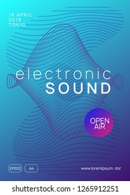 Electro event. Trendy show brochure template. Dynamic gradient shape and line. Electro event neon flyer. Trance dance music. Electronic sound. Club fest poster. Techno dj party.