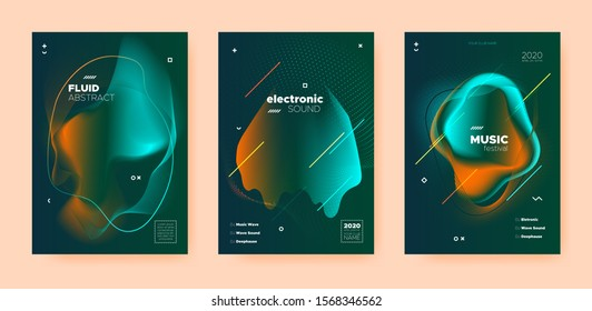 Electro Music Poster. Wave Gradient Shapes. Disco 3d Banner. Dj Concert. Orange Dance Music Poster. Yellow Abstract Gradient Blend. Night Club Flyer. Dj Sound. Trance Music Poster.