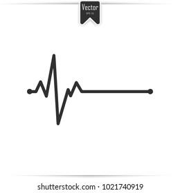 Electrocardiogram, ecg - medical icon