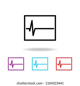 electrocardiogram graph indicating heart rhythm icon. Elements of death in multi colored icons. Premium quality graphic design icon. Simple icon for websites and web design on white background