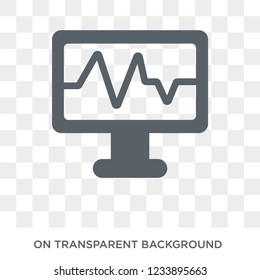 Electrocardiogram icon. Trendy flat vector Electrocardiogram icon on transparent background from Health and Medical collection.