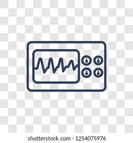 Electrocardiogram icon. Trendy linear Electrocardiogram logo concept on transparent background from Health and Medical collection