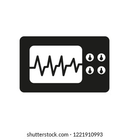 Electrocardiogram icon. Trendy Electrocardiogram logo concept on white background from Health and Medical collection. Suitable for use on web apps, mobile apps and print media.