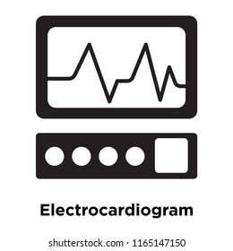 Electrocardiogram icon vector isolated on white background, Electrocardiogram transparent sign , medical health symbols