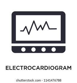 Electrocardiogram line icon vector isolated on white background for your web and mobile app design, Electrocardiogram line logo concept