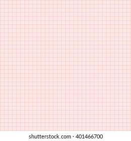 Electrocardiogram paper texture, millimeter paper texture. Vector illustration.