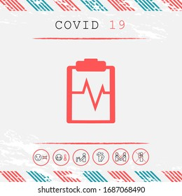 Electrocardiogram symbol icon. Graphic elements for your design