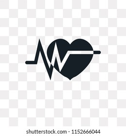 Electrocardiogram vector icon isolated on transparent background, Electrocardiogram logo concept