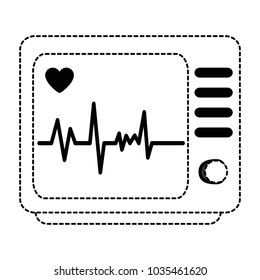 electrocardiograph machine isolated icon