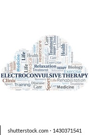 Electroconvulsive Therapy word cloud. Wordcloud made with text only.