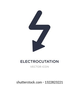 electrocutation danger icon on white background. Simple element illustration from Maps and Flags concept. electrocutation danger sign icon symbol design.