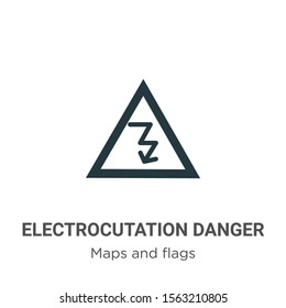 Electrocutation danger vector icon on white background. Flat vector electrocutation danger icon symbol sign from modern maps and flags collection for mobile concept and web apps design.