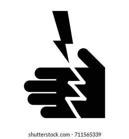 electrocution danger icon