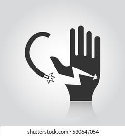electrocution risk Icon