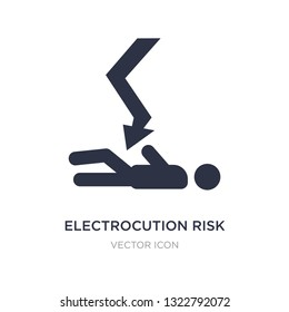 electrocution risk icon on white background. Simple element illustration from Maps and Flags concept. electrocution risk sign icon symbol design.